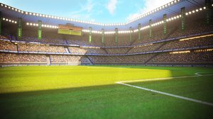 3D ready football soccer stadium