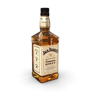 jack daniels honey 70cl 3D model
