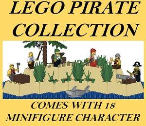 3D lego pirate model