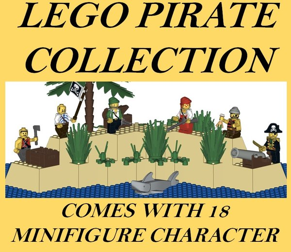 3D lego pirate model