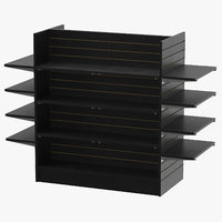 slat wall gondolas shelves model