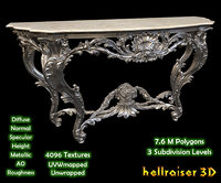 Vintage Gothic Marble Table - Textured