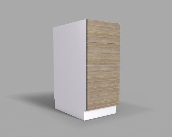 kitchen cabinet drawers 40 3D model