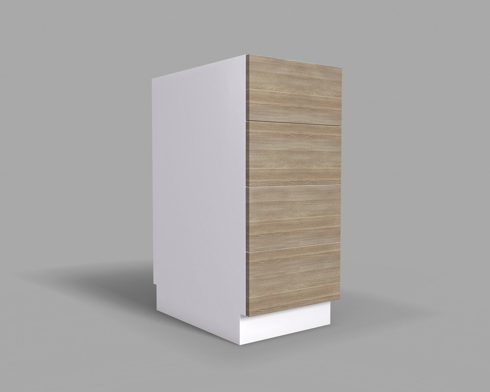 kitchen cabinet drawers 40 3D model
