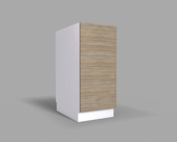 3D model kitchen cabinet drawers v2