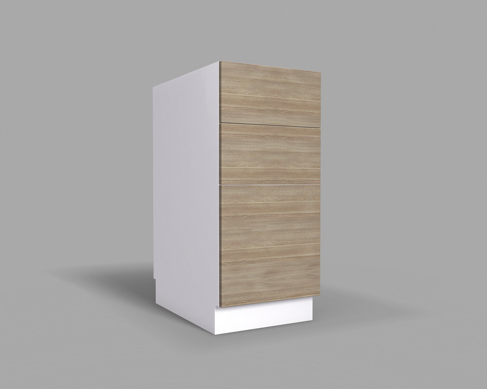 3D model kitchen cabinet drawers v2