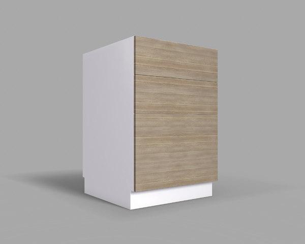 kitchen cabinet drawers v2 3D