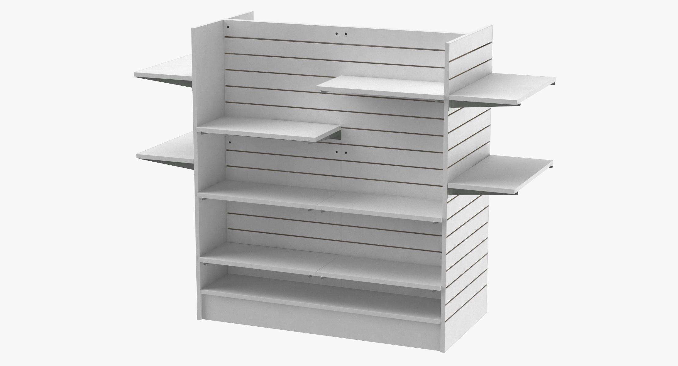 Slat Wall Gondolas And Shelves 03 02