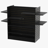 slat wall gondolas shelves 3D model