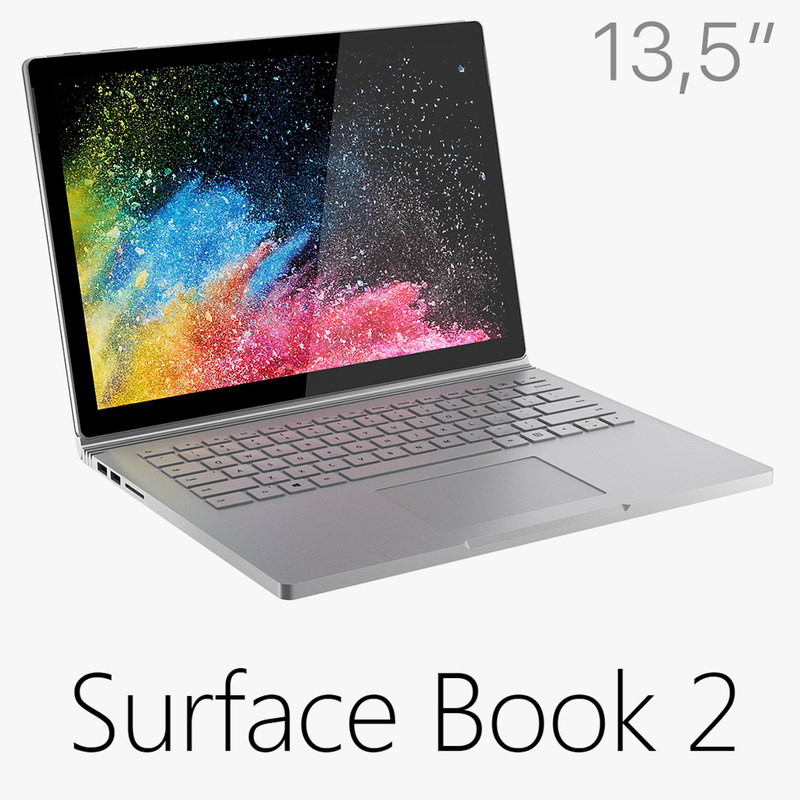 3D microsoft surface book 2