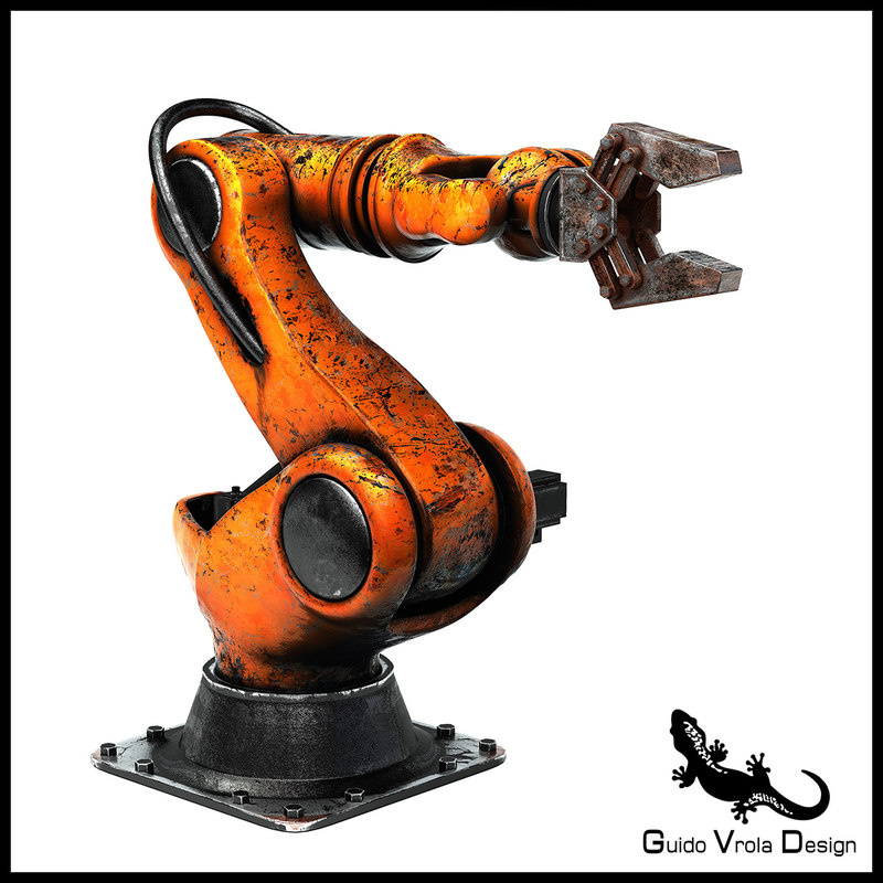 3D aged industrial robot
