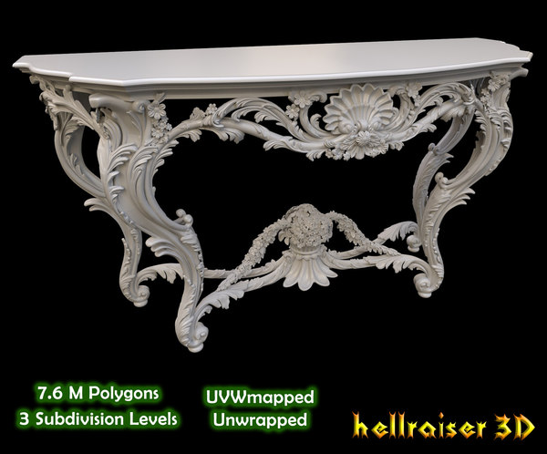 vintage gothic marble table model