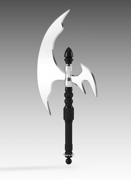 3D axe battle ax