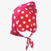 cartoon kerchief toon 3D model