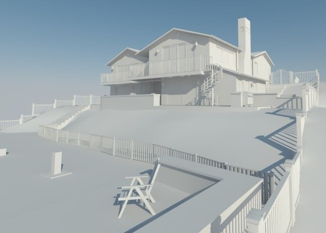 3D privat 2 story house