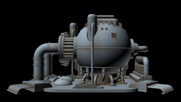 3D sci-fi power station