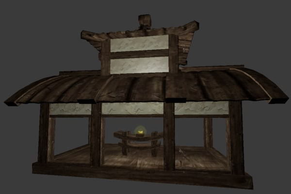 3D canopy wood stone