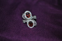 Ring and red stones