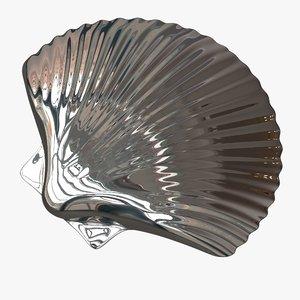 silver chrome shell 3D
