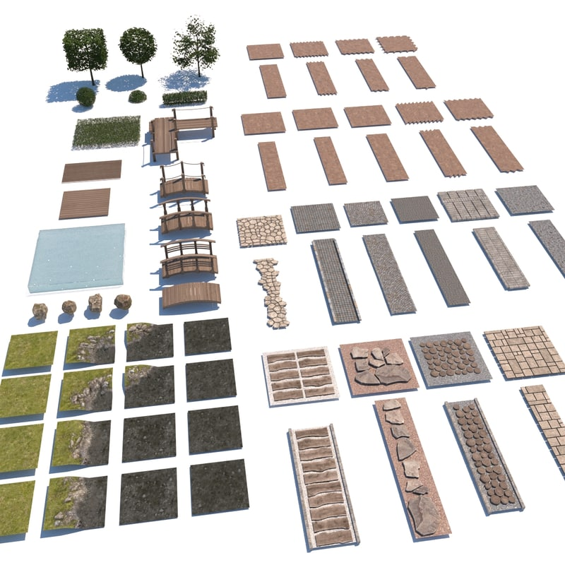3D pack landscape garden design model