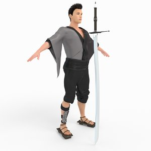 3D model samurai characters