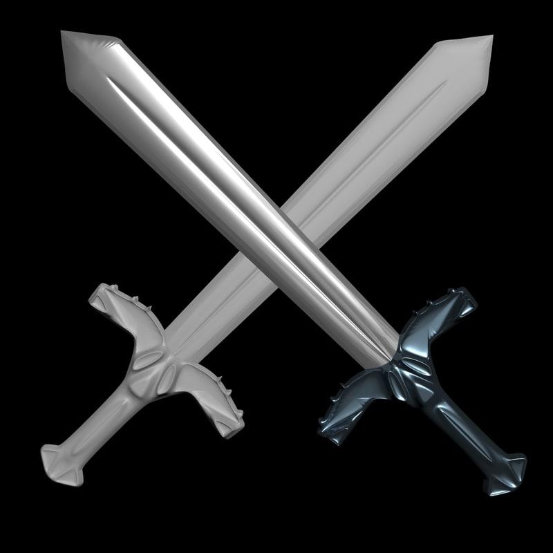one-handed sword blade 3D model