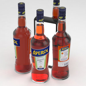 aperol alcohol bottle 3D model