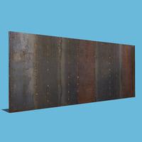 metal wall 3D model