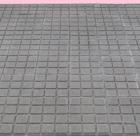 3D model square tiled sidewalk