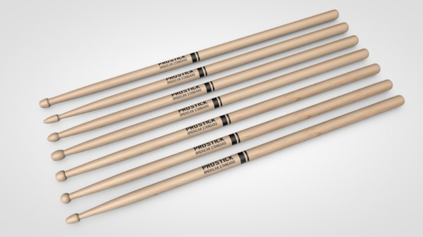 drum sticks 3D model