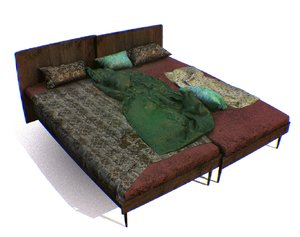 3D bed double model