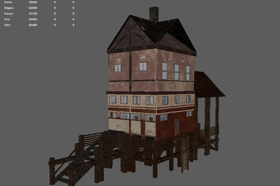3D beach house