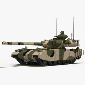 t-100 object-189 tank green 3D model