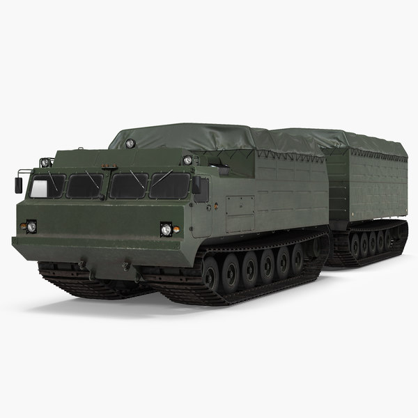 articulated tracked vehicle vityaz 3D model