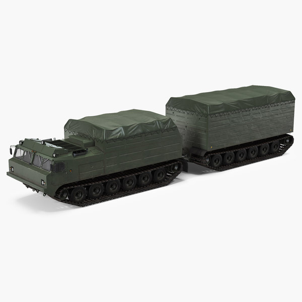 3D articulated tracked vehicle vityaz