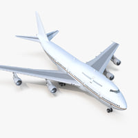 3D boeing 747-300 generic model