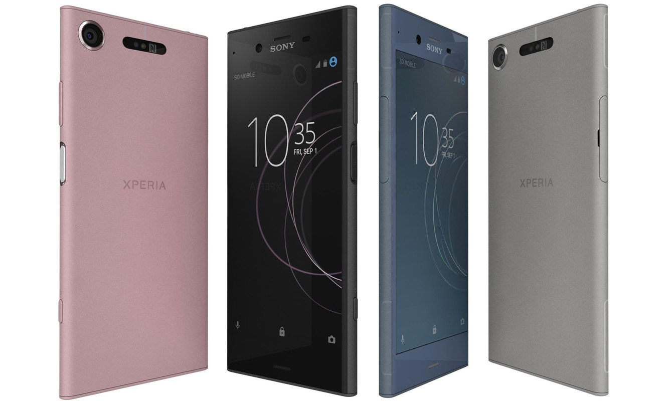 3D model sony xperia xz1 colors