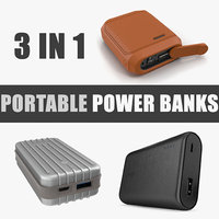 3D portable power banks model