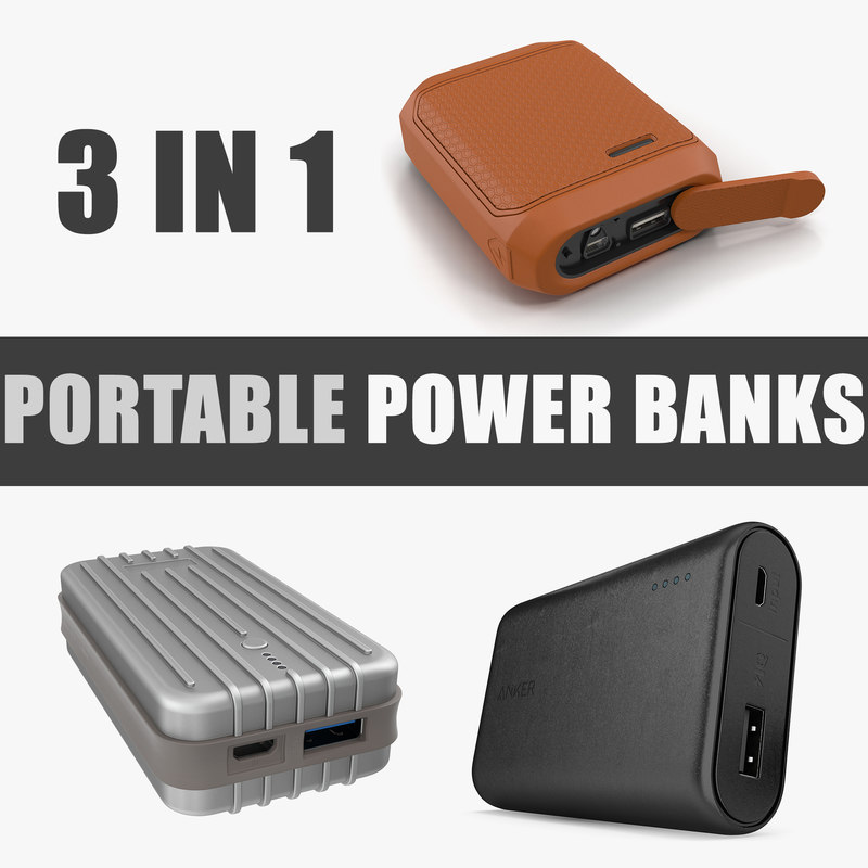 3D portable power banks model