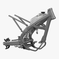 Motocross Motorcycle Frame 3D Model