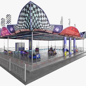 dodgem cars 3D model