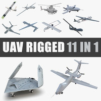 3D uav rigged 4