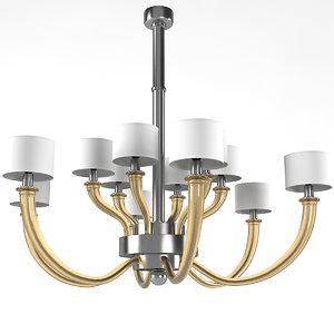 donghia fontana chandelier 3D model