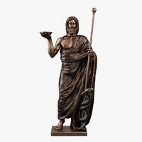 3D asclepius god medical model