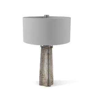 3D model quatrefoil veiled lamp