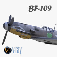3D bf-109 german fighter modelled