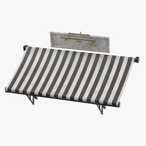 3D store awning 03 model