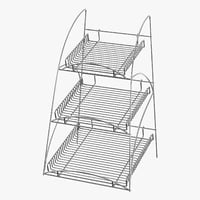 3D display rack 01 model
