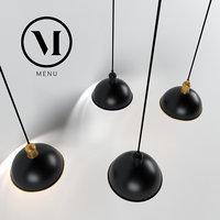 Hubert Pendant Tribeca by Soren Rose, Menu / Ceiling lamp black & bronze