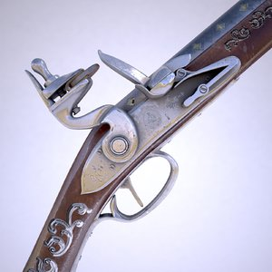 3D flintlock musket model